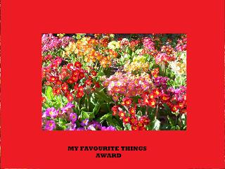 my favorite things award