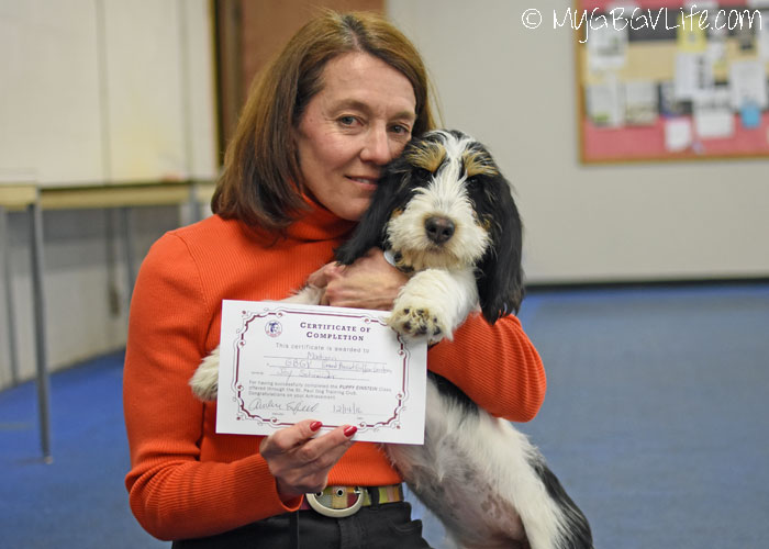 Madison Graduates From Puppy Einstein Class